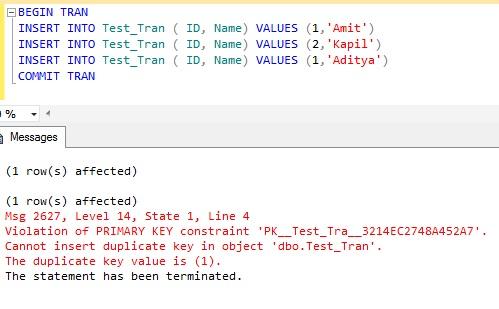 Sql Server Rollback Transaction Completely In Case Of Error Kapilsqlgeek